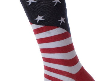 Soxmile Mens US American Flag Crew Socks