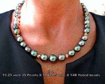 Black Pearl Tahitian Necklace