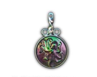 Black Pearl Octopus Pendant