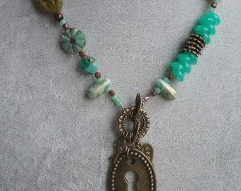 Mint Chocolate Necklace