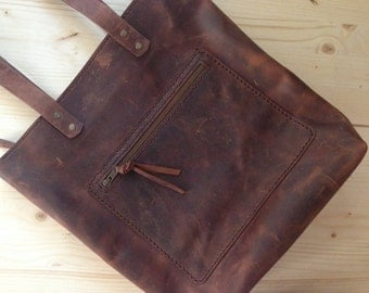 Best Price, Brown Leather Tote.Brown leather tote bag.Leather tote.Leather tote bag.Vintage leather tote.13
