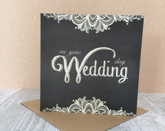 FREE SHIPPING * Wedding Day card from the Vintage Lace collection