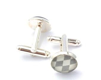 Diamond Chequered Cufflinks