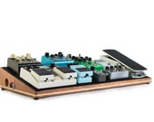 Ruach Foxy Lady Handmade Hardwood Pedal Board Pedalboard for Guitar Effects and Case SmallMediumLargeExtra Large