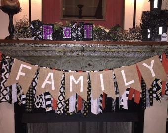 Family Bunting/Family Banner/Family/Mantel Decor