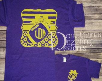 Football Monogram Shirt | Team Spirit Shirt | ECU football |