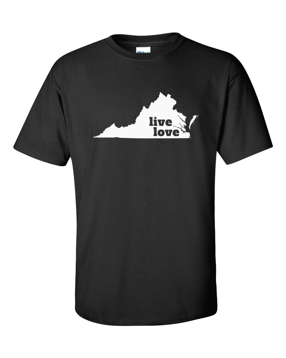 Virginia T-shirt - Live Love Virginia - My State Virginia T-shirt