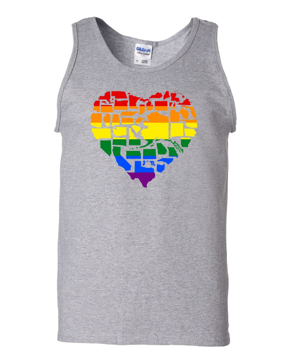 Gay Pride Shirt - Marriage Equality Gay Pride in All 50 States Gay Pride Tank Top
