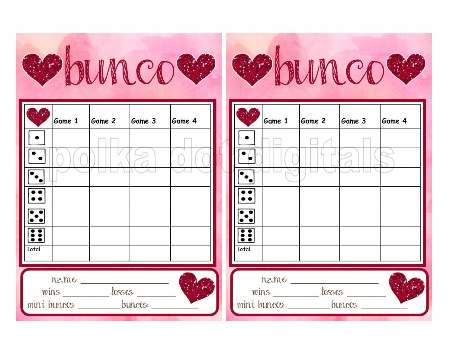 This is a graphic of Amazing Bunco Tally Sheets Printable