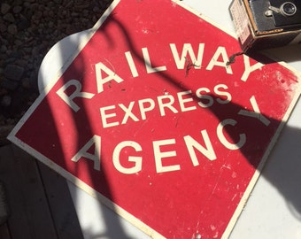 """Old Sign - """"Railway Express Agency"""""""
