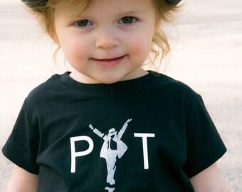 PYT pretty young thing Michael Jackson shirt, music king of pop tshirt girl glitter
