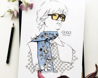 Illustration of Gucci Mens SS16