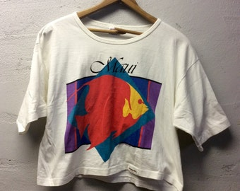 Vintage maui crop t shirt  size medium