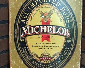Michelob Tin Sign