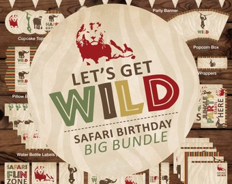 Jungle Printable Party, Safari Party Printables, Jungle Safari Printables, Zoo Printable Party, Safari Party Package, Jungle Party Kit