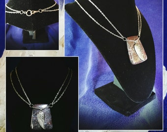 Polished Stone and Angel Wing Necklace