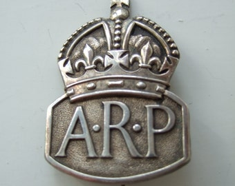 WWII Air Raid Precautions ARP Badge Pin