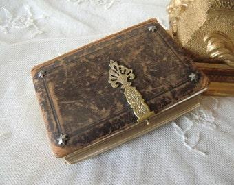 Vintage antique prayer booklet 1893 french shabby