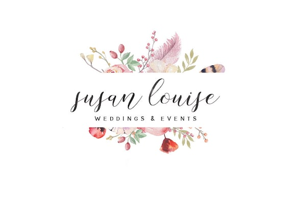 Wedding Photography Studio Logo: Watercolor Photography Logo