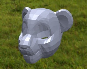Toon style lion mask