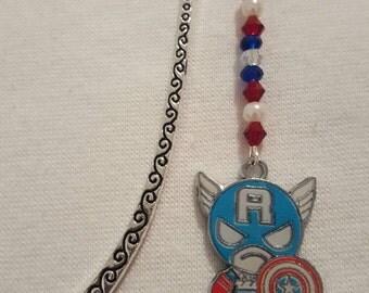 Captain america charm bookmark