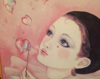 """1983 """"Magic Hearts"""", by Judy Mastrangelo, signed print"""