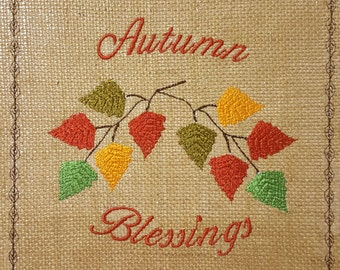 Autumn Blessings Embroidery Design / Machine embroidery design / Fall / Autumn
