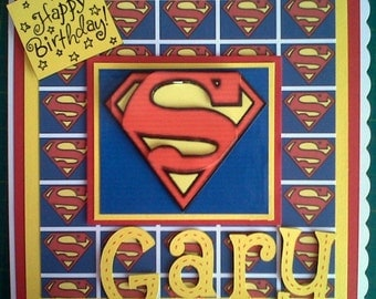 Superman Birthday card, Super Hero birthday card, DC Comics card, Card for Dad, Father's Day, Card for Grandad, Uncle, Heor birthday card