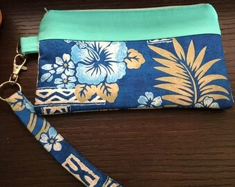 Hawaiian Theme Wristlet, Purse, Handbag