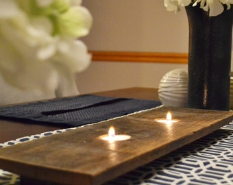 Tealight Candle Tray for Tabletop or Mantle