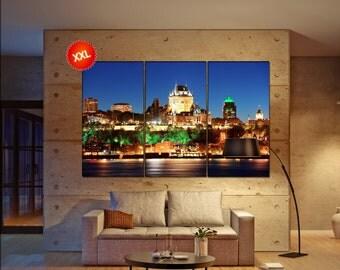 Quebec  canvas wall art Quebec wall decoration Quebec canvas wall art art Quebec large canvas wall art  wall decor