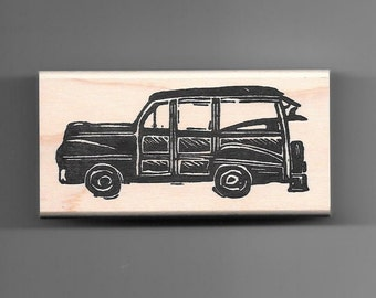 Woody Car Rubber Stamp