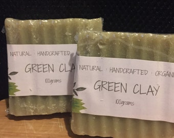 Handmade Australian Green Clay Soap for anyone with oily skin..Natural, Organic