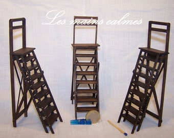 Articulated library step ladder miniature