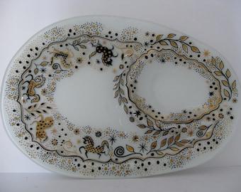 Yona Lippin Glass Platter