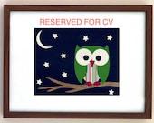 RESERVED - Handmade Woodland Owl