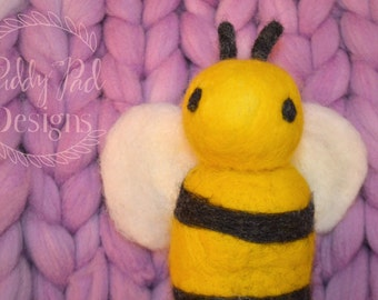 Hand Felted Bumble Bee Photo Prop; newborn photography prop; MADE TO ORDER; stuffed animal; needle felted