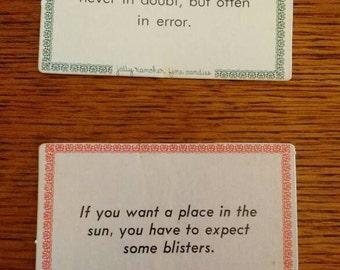 Jolly Rancher Fine Candies wisdom cards - vintage 1920s?