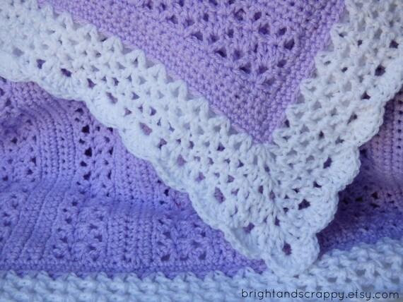 Crochet Baby Blanket Patterns On Etsy : Crochet Baby Blanket Pattern Baby Afghan by BrightandScrappy