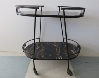 Mid-Century Modern Bar Cart With A Modernist Look, In The Manner Of Cesare Lacca.