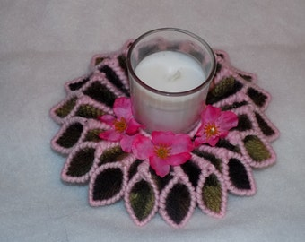 pink camo candle holder