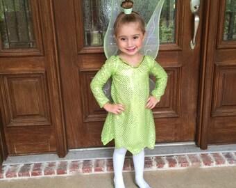 Tinkerbell girl costume party dress halloween