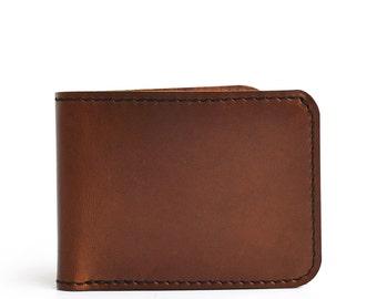 Slim Handmade Mens Leather Wallet Men Womens Leather Wallet Women Leather Bifold Wallet Front Pocket Wallet Leather Card Wallet Gift For Men