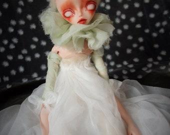 Ghost Agnese, art doll, handmade doll, horror doll, ghost doll, horror art, human figure