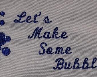 Let's make some bubbles Apron