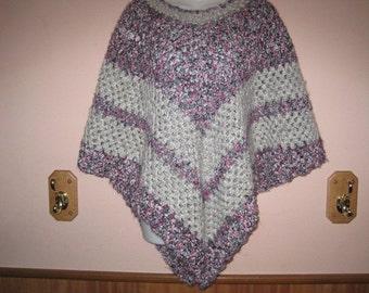 Women's crocheted poncho