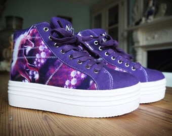 Purple Unicorn Platform Shoes