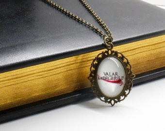 Game of Thrones: Valar Morghulis Cameo Necklace/Bookmark/Necklace/Keychain/Bracelet/Cameo