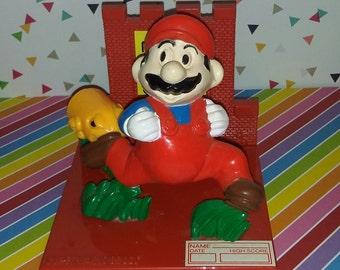 Vintage 1988 Hasbro Nintendo Super Mario Bros High Score Trophy