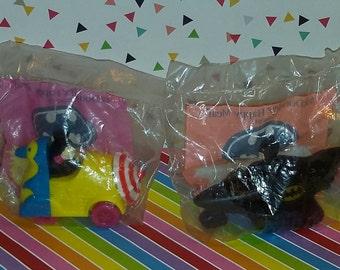 Vintage lot of 2 1992 Batamn Returns McDonalds Toys